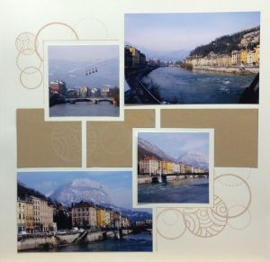 Grenoble, France.  Circle stamps.