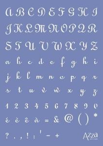Alphabet stencil DONA