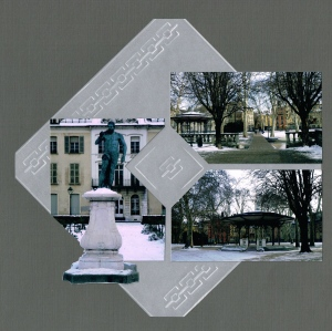 Grenoble Garden - embossing on vellum.  It gives the look of etching on glass.