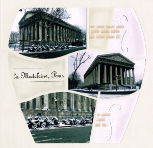 Madeleine, Paris - embossed scrolls used with a decorative stencil.